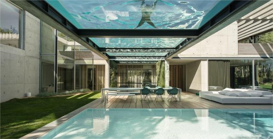 casas prefabricadas de hormigon con piscina