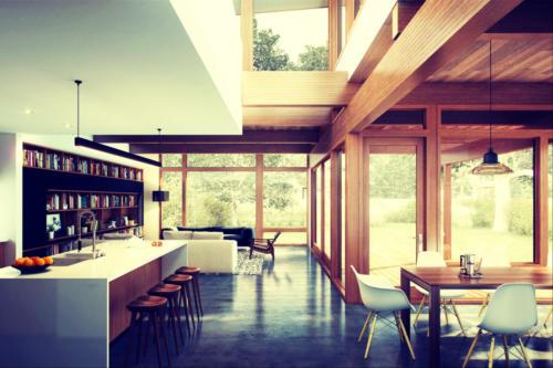 casa prefabricada con cocina