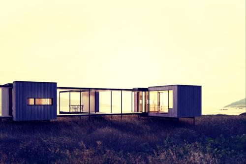 casa prefabricada en la playa