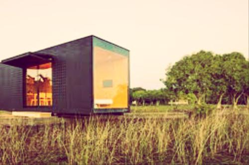vivienda modular en el campo